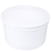 4 qt. White Polyethylene Container