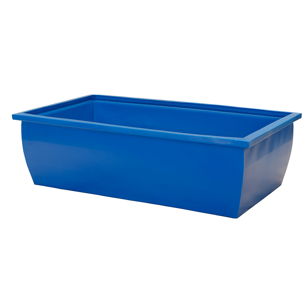 110 gallon blue rectangular open top tank u s plastic corp - Top plastic krukje ...