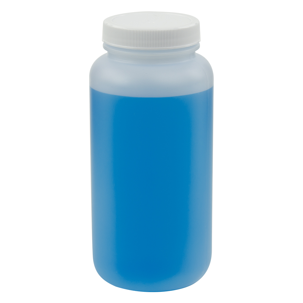 16 6 Oz Wide Mouth Round Hdpe Jars With 53 400 Cap U S