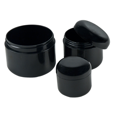 Black Dome Double Wall Jars