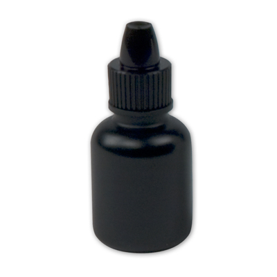 Black Boston Round Bottle with Dropper Cap