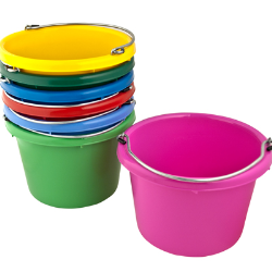 Round Plastic Buckets Category Buckets 5 Gallon Buckets