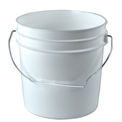 White 1 Gallon Bucket
