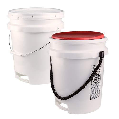5 Gallon Buckets with Bottom Handle