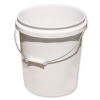 White 5 Gallon Economy Buckets