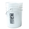 6 Gallon White Bucket