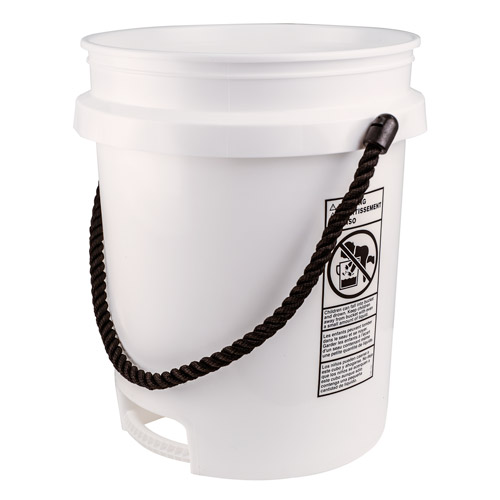 built in bottom handle 5 gallon buckets with rope handle u s plastic corp. Black Bedroom Furniture Sets. Home Design Ideas