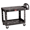 "Black Rubbermaid® Flat Shelf Utility Cart 43-7/8"" L x 25-5/8"" W x 33-5/16"" H"