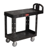 "Black Rubbermaid® Flat Shelf Utility Cart 37-7/8"" L x 19-3/16"" W x 33-5/16"" H"