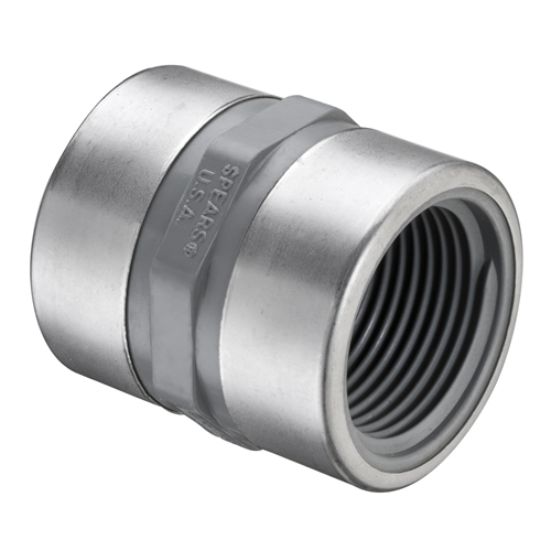 Quot fnpt pvc sch sr coupling with ss collars u s
