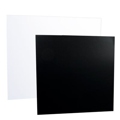 Black and White Expanded High Density Rigid PVC Sheet