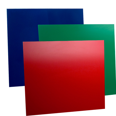 Red, Green and Blue Expanded High Density Rigid PVC Sheet