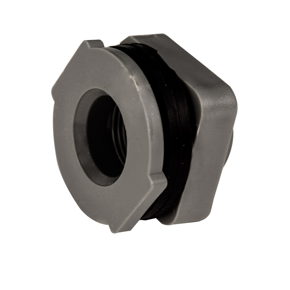 Quot installed pvc tank fittings with santoprene™ gaskets