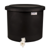 "10-12 Gallon Black Polyethylene Shallow Tank with Cover & Spigot - 14"" High"