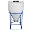 "65 Gallon Cone Bottom Tank with Mixer Mounts & 2"" FNPT Bulkhead Fitting - 30"" Diameter x 41"" High"