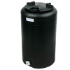 "10 Gallon Tamco® Vertical Black PE Tank with 8"" Lid & 3/4"" Fitting - 13"" Dia. x 22"" High"