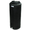 "15 Gallon Tamco® Vertical Black PE Tank with 8"" Lid & 3/4"" Fitting - 13"" Dia. x 31"" High"