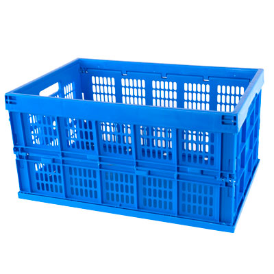 Blue Collapsible Crates