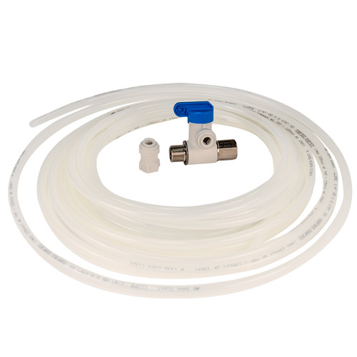 The quick connect ice maker kit tubing valve connector