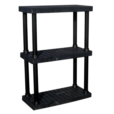 3 Level Dura Shelf 51 H X 36 W X 16 L U S Plastic Corp