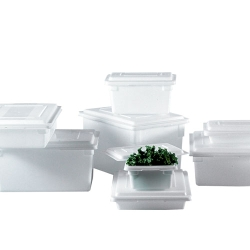 Rubbermaid® White Food/Tote Boxes