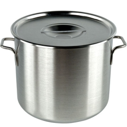 Stainless Steel Stock Pot Storage Containers and Covers