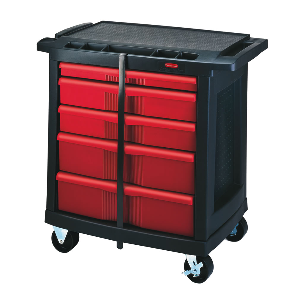 Rubbermaid 174 5 Drawer Mobile Work Center U S Plastic Corp