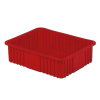 "22-5/16"" L x 17-5/16"" W x 6"" H Red Divider Box"