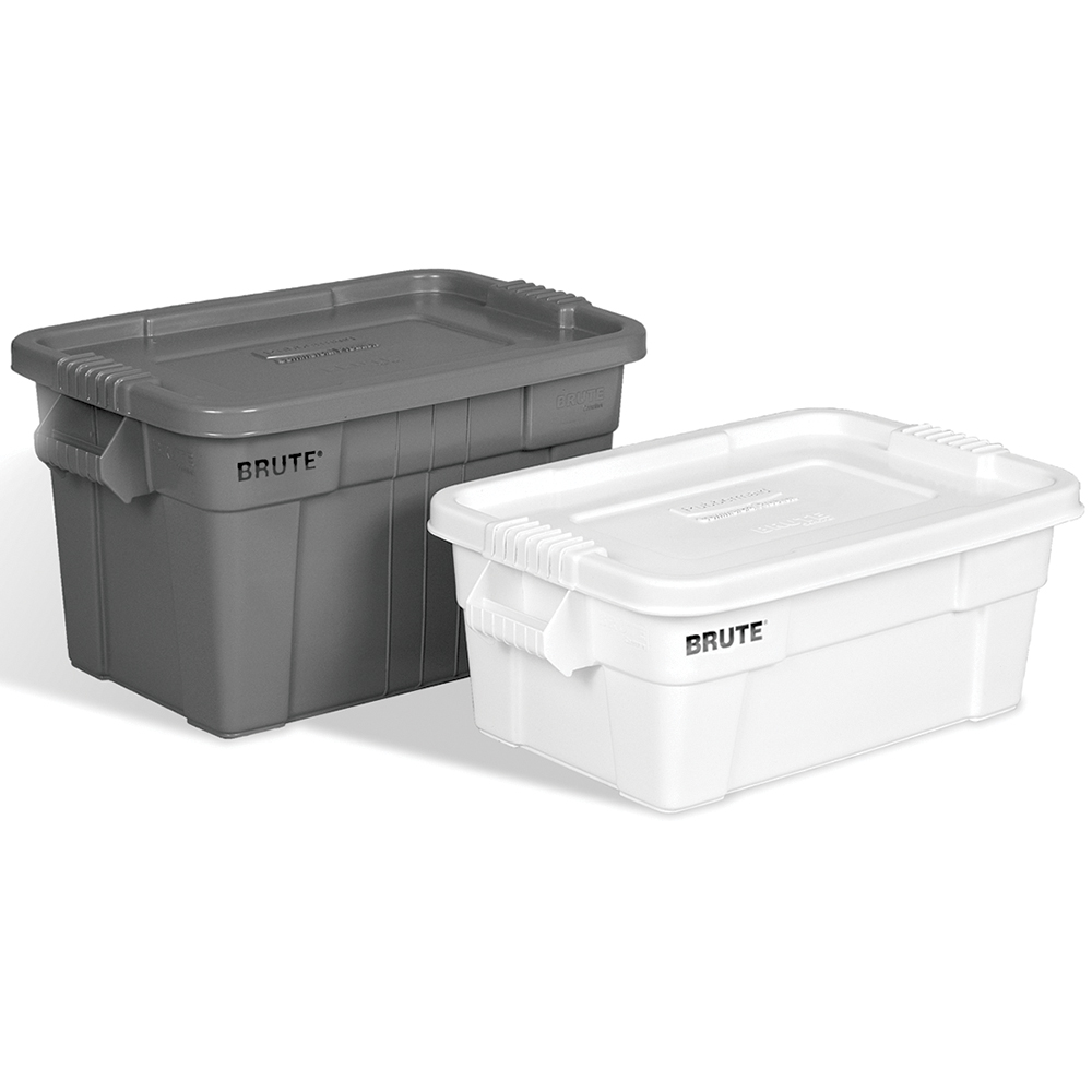 Rubbermaid 174 Brute 174 Tote With Lid U S Plastic Corp