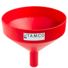 "13-1/8"" Top Diameter Red Tamco® Funnel with 2"" OD Spout"