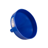 "13-1/8"" Top Diameter Blue Tamco® Funnel with 2"" OD Spout"