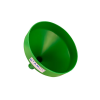 "13-1/8"" Top Diameter Green Tamco® Funnel with 2"" OD Spout"