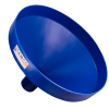 "21-1/4"" Top Diameter Blue Tamco® Funnel with 4"" OD Spout"