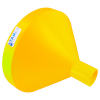 "21-1/4"" Top Diameter Yellow Tamco® Funnel with 4"" OD Spout"
