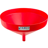 "21-1/4"" Top Diameter Red Tamco® Funnel with 1-3/4"" OD Spout"