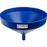 "21-1/4"" Top Diameter Blue Tamco® Funnel with 1-3/4"" OD Spout"