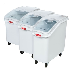 Rubbermaid Slant Front Ingredient Bins With Sliding Lid and Scoop
