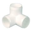 White 3-Way Elbow for Furniture Pipe