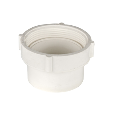 White PVC Female Pipe Thread Spigot Cleanout Adaptor