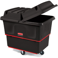 Rubbermaid� Black Heavy-Duty Utility Trucks and Lids