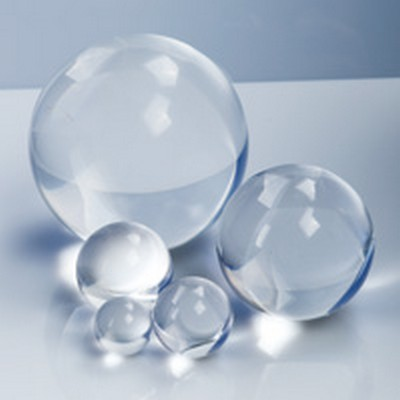 Solid round clear acrylic balls u s plastic corp for Clear plastic balls for crafts