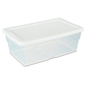 sterilite basic clear storage boxes clear storage boxes feature a see