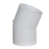 "2"" Schedule 40 White PVC 22-1/2° Slip x Slip Elbow"