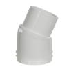 """1-1/2"""" Schedule 40 White PVC 22-1/2° Slip x Spigot Elbow"""