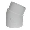 """6"""" Schedule 40 White PVC 22-1/2° Slip x Spigot Elbow"""
