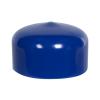 """Blue Vinyl Cap - 1"""" Cap ID x 1/2"""" Inside Length"""