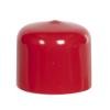 "Red Vinyl Cap - 1-1/4"" Cap ID x 1"" Inside Length"