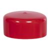 "Red Vinyl Cap - 2-1/2"" Cap ID x 1"" Inside Length"