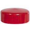 "Red Vinyl Cap - 3-1/2"" Cap ID x 1-1/8"" Inside Length"