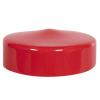 "Red Vinyl Cap - 4-1/2"" Cap ID x 1-1/4"" Inside Length"